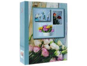 Fotoalbum 10x15/304foto DPH46304 Flower power modré
