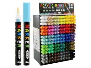 Dekorační popisovač M&G akrylový 2mm, mix barev/displej 30 barev x 6 ks
