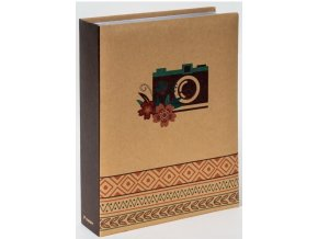 Fotoalbum 10x15/200foto B-46200 Snapshot 2 hnědozelený aparát
