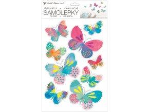 Samolepky na zeď 42 x 25 cm, barevní motýlci 15116