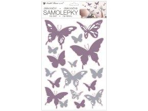 Samolepky na zeď 42 x 25 cm, motýlci 15115