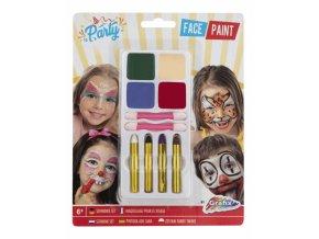Barvy na obličej, 4 různé barvy