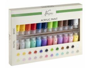Sada akrylových barev 24 x 22 ml