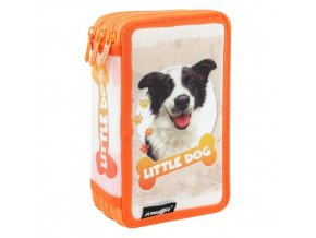 Penál plátěný plný - 3 patrový, 31 dílný - Seria 4 - Little Dog
