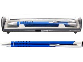 Psací souprava Veno rubber kuličkové pero tmavě modrá