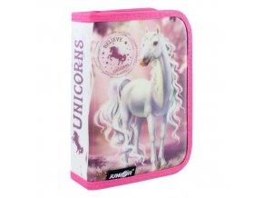 Penál plátěný plný 31 dílný - Seria 4 - Believe in Unicorns