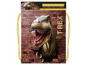 Vrecko na prezuvky s potlačou - Seria 4 - T-Rex