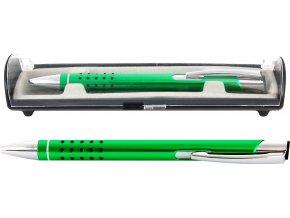 Psací souprava Veno rubber kuličkové pero světle zelená