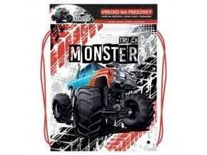 Vrecko na prezuvky s potlačou - Seria 4 - Monster Truck
