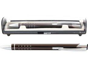 Psací souprava Veno rubber kuličkové pero ocelová