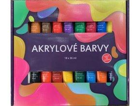 Akrylové barvy 18x36ml SMT