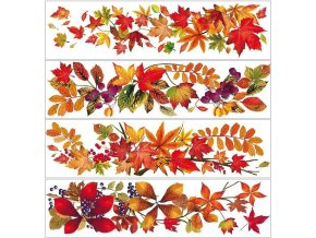 Okenní fólie pruh s podzimním listím 881, 64x15cm