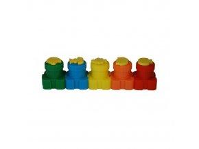 Prstové barvy s razítky 5ks Colorino 5x20ml
