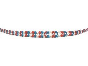 Girlanda v národních barvách 9075 ,2ks 400x22x12cm