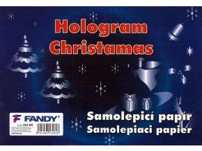 Samolepicí papíry Hologram Christmas