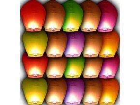 Lampiony štěstí - 10 ks - mix barev