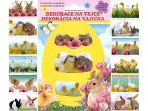 Košilky na vajíčka živá zvířátka 779, 12ks v balení