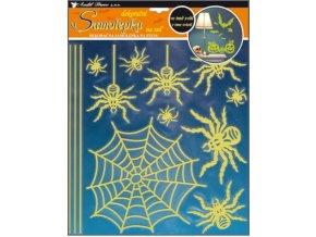 Samolepky na zeď pavouci svítící ve tmě 10047, 38x30cm