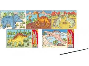 Malování vodou dinosauři 28x21,5cm 6760