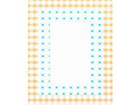 Fotorámeček 10x15 3D samolepicí 5 žlutomodrý