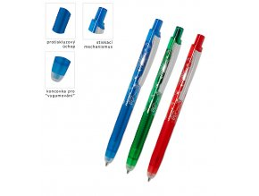 Kuličkové pero roller gumovatelny Trix click 0,7 mm - 9 POSLEDNÍ KUSY -