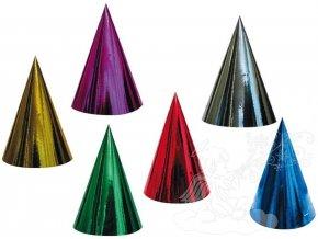 Karnevalový klobouček hologramový 6 ks v balení 9006