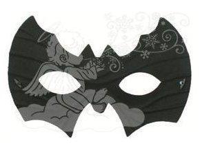 Plesová škraboška netopýr 19cm