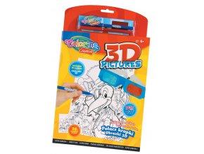 Omalovánka - 3D obrázky - 24 obrázků