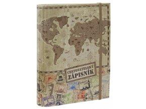 Cestovatelský zápisník - lamino - mapa BU039 8