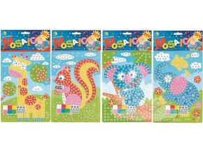 Mozaikový hrací set zvířátka 23x16cm 1685