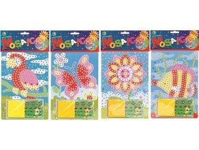 Mozaikový hrací set květinka 23x16cm 1686