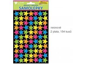 Samolepky neonové hvězdičky 10110 ,  25x14cm