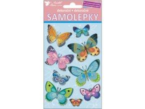 Samolepky 3D motýlci 10112 ,  19x10cm