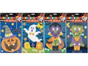 Mozaikový hrací set Halloween 1691 , 23x16 cm