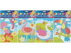 Mozaikový hrací set ptáci 1690 , 23x16cm