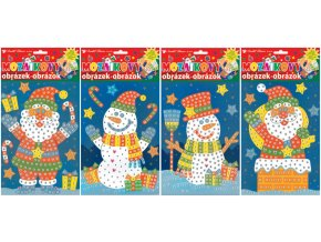 Mozaikový hrací set Vánoce 1692 , 23x16 cm