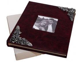Fotoalbum na fotorůžky DBCL-50(B) Brass tmavě vínová