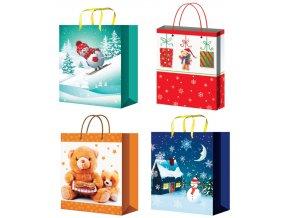 Taška vánoční dárková pro děti L 12080 , 32x26x12,7cm