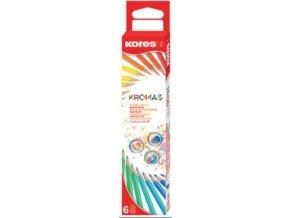 Trojhranné pastelky Kromas 6ks , 3mm 93396