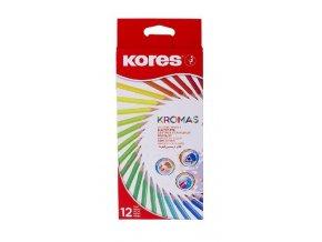 Trojhranné pastelky Kromas 12ks , 3mm 93391
