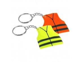 Reflexní přívěsek - vesta, žlutý - 2 POSLEDNÍ KUSY -