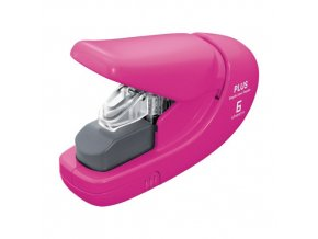 Sešívačka PLUS Paper Clinch mini 106AB (na 6 listů) růžová