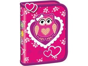 Penál Premium - Owl 1 zip prázdný