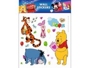 Samolepky na zeď Disney Medvídek Pú s pohlednicí 21087 , 30x39cm