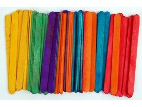 Dřívka dekorační Color 50 ks