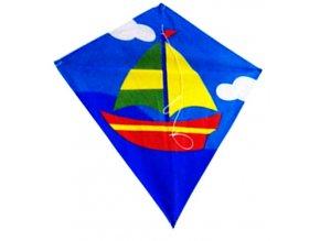 Létajicí drak loďka 60x70x250 cm nylon