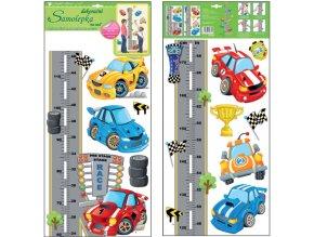 Samolepka na zeď dětský metr silnice a auta 10180 , 120 x 32 cm