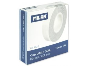 Lepící páska oboustr. 15mm x 10m Milan