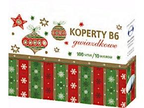 Vánoční obálky B6 100ks