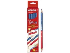 Učitelská tužka Twin červená-modrá